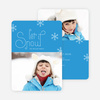 Frozen Snow Photo Holiday Cards - Blue