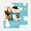 Geometric Snowmen Holiday Cards - Blue