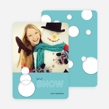 Geometric Snowmen Holiday Cards - Blue