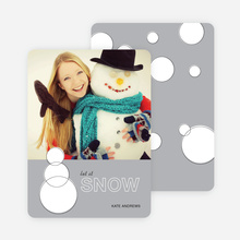 Geometric Snowmen Holiday Cards - Gray