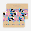 Geometric Stars Hanukkah Cards - Purple