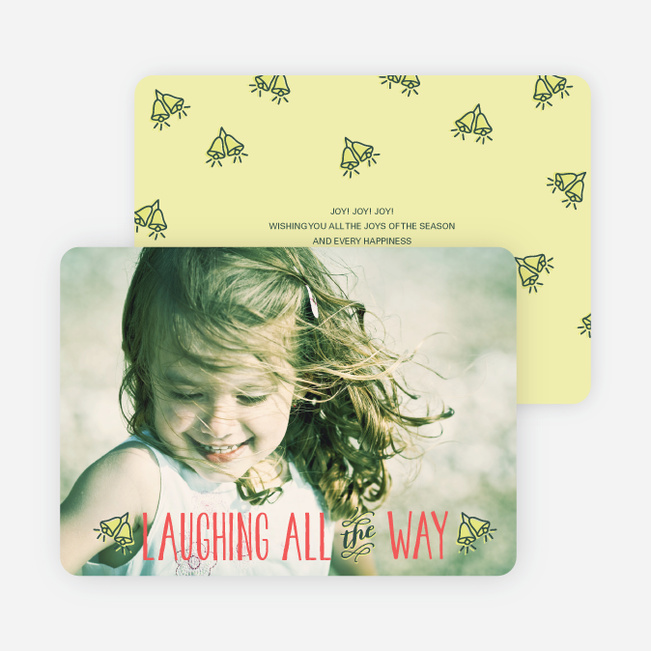 Holiday Cards: Laughing All the Way - Yellow