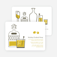 Holiday Cocktails Party Invitations - Yellow