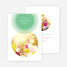 Illumination Holiday Cards - Green