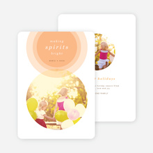 Illumination Holiday Cards - Orange