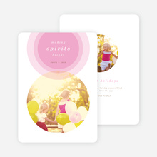 Illumination Holiday Cards - Pink