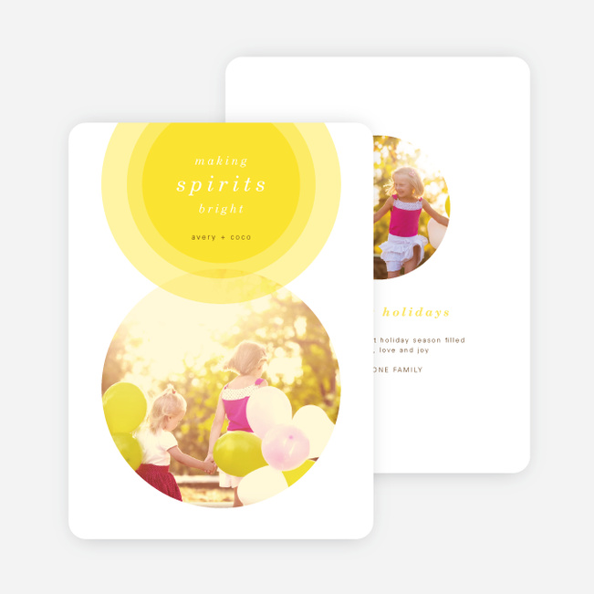 Illumination Holiday Cards - Yellow