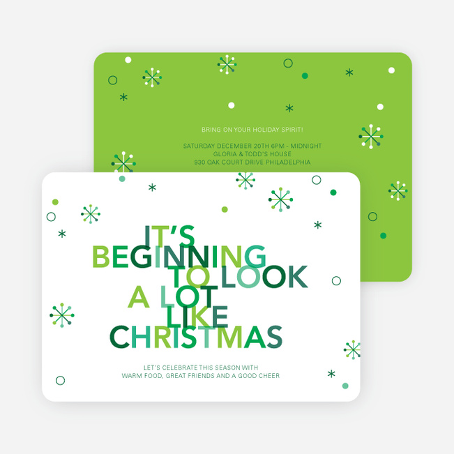 It's Beginning to Look a Lot Like Christmas Cards - Green