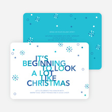 It's Beginning to Look a Lot Like Christmas Cards - Blue