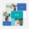 Joy, Peace & Love Blocks: Holiday Photo Cards - Blue