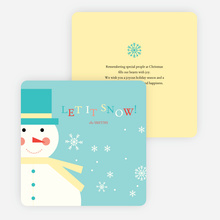 Let it Snowman Winter Holiday Cards - Blue