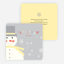 Let it Snowman Winter Holiday Cards - Gray