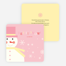 Let it Snowman Winter Holiday Cards - Pink