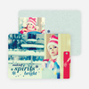 Making Spirits Bright Cards for the Holidays - Blue