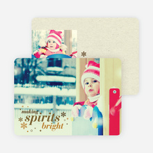 Making Spirits Bright Cards for the Holidays - Brown