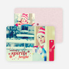 Making Spirits Bright Cards for the Holidays - Red