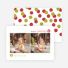Merry Christmas Confetti Cards - Red
