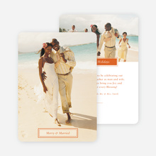 Merry & Married Holiday Cards for Newlyweds - Orange