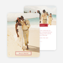 Merry & Married Holiday Cards for Newlyweds - Red