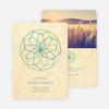 Modern Snowflake Cards - Blue