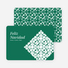 Paper Snowflake Feliz Navidad Cards - Green