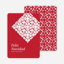 Paper Snowflake Feliz Navidad Cards - Red