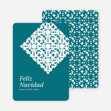 Paper Snowflake Feliz Navidad Cards - Blue