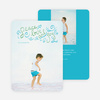 Peace, Love & Joy Holiday Photo Cards - Blue