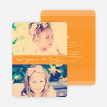 Rejoice in the Lord Christmas Cards - Orange