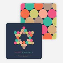 Star of David Circles Hanukkah Cards - Multi