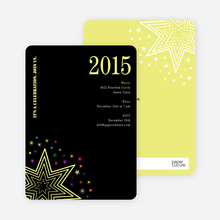 Starburst New Year's Invitations - Lemon Chiffon