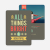 All Things Bright & Beautiful Holiday Cards - Brown