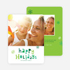Colorful Happy Holidays Cards - Green