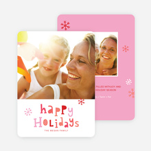 Colorful Happy Holidays Cards - Red