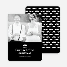 "Fan ""tache"" tic Christmas Cards - Black"