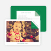 Folded Corner Photo Cards for the Holidays - Green