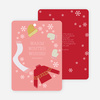 Frozen Christmas Cards - Red