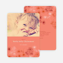 Holly Jolly Christmas Cards - Red