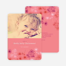 Holly Jolly Christmas Cards - Pink