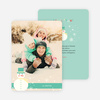 Let it Snowman Winter Holiday Cards - Green