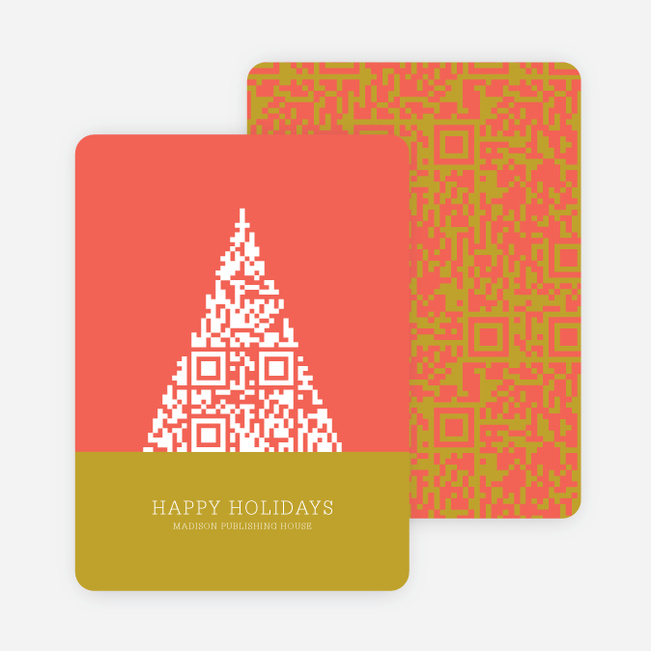 Silicon Geek Christmas Tree Cards - Red