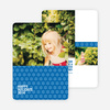 Snowflake Pattern Holiday Cards - Blue