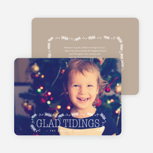 Glad Tidings Holiday Cards - Beige