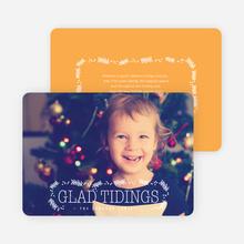 Glad Tidings Holiday Cards - Orange