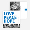 Love, Peace & Hope Holiday Cards - Blue