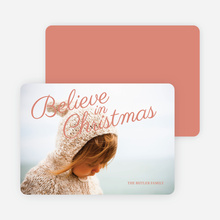 Believe in Christmas Cards - Red