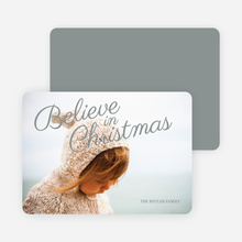 Believe in Christmas Cards - Gray