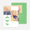 Bird of Joy Custom Holiday Cards - Green