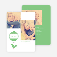 Bird of Joy Custom Holiday Cards - Green