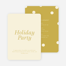 Confetti Holiday Party Invitations - Beige